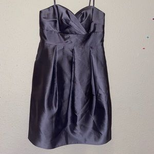Eliza J, silver silk material above the knee dress